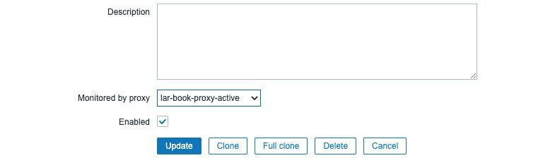 Figure 7.13 – Configuration   Hosts, Edit host page for host lar-book-agent