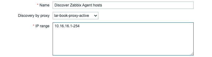 Figure 7.17 – Configuration | Actions, drop-down menu for discovery by proxy lar-book-proxy-active