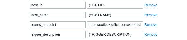 Figure 8.29 – Zabbix Administration | Media types, edit MS Teams page