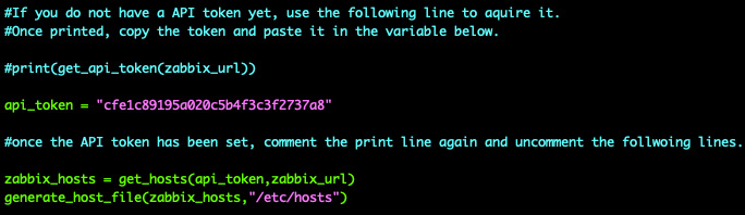 Figure 9.15 – End of the script after receiving the API token and with commenting removed