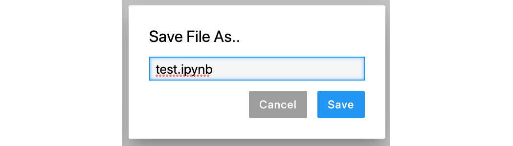 Figure 1.19: Prompt for saving the name of the file