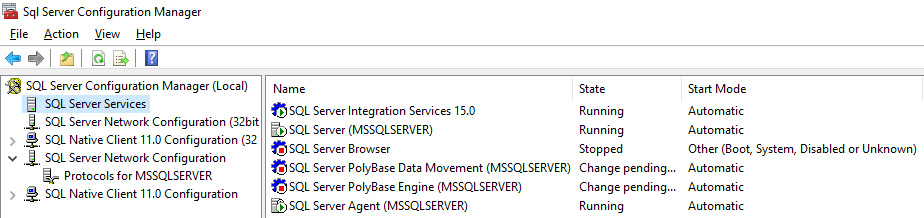 Figure 1.16 – SQL Server Configuration Manager