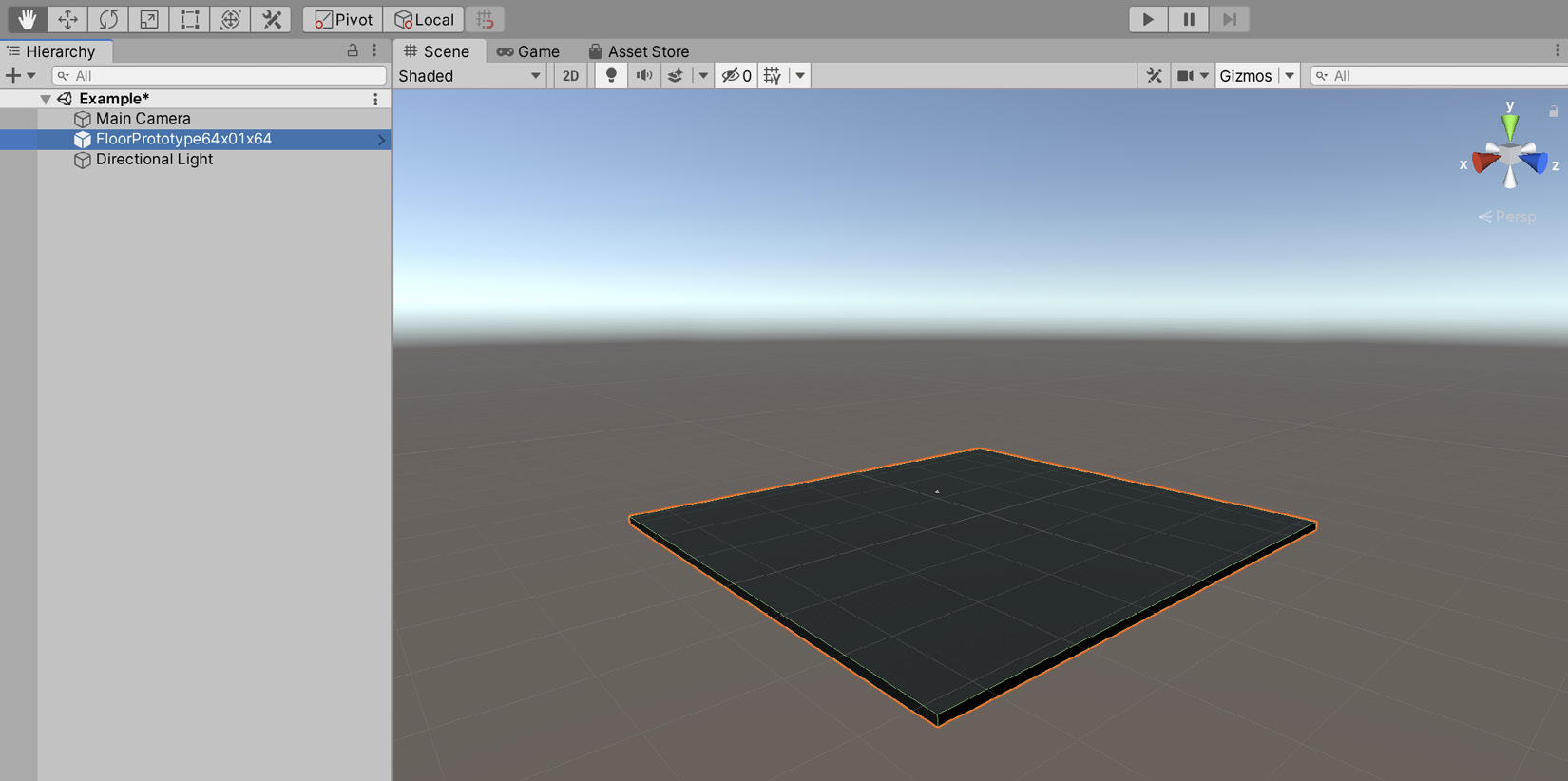 Figure 1.17 – Dragging and dropping mesh assets from the  Project panel to the Scene view will add them to the scene