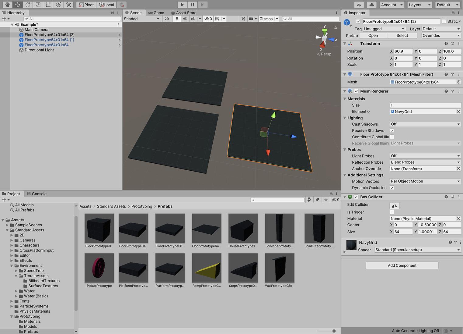 Figure 1.18 – Adding multiple instances of the floor mesh to the scene