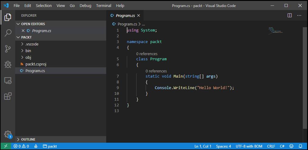Figure 1.6 – VS Code – Windows