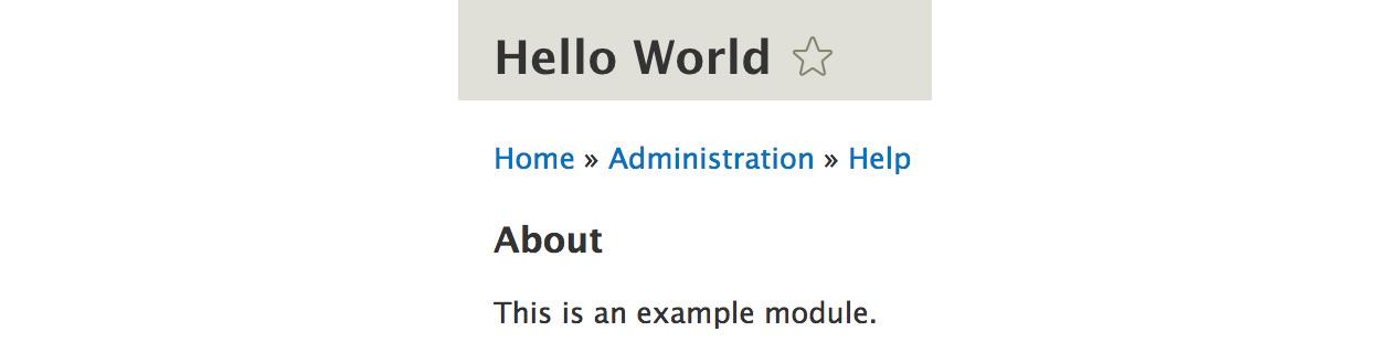 Figure 2.1: Hello World example module