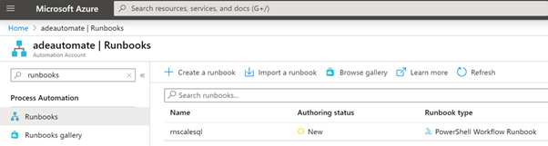 Figure 2.21 – Opening the runbook in Azure Automation