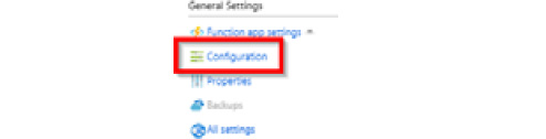 Clicking on the Configuration link in the General Settings section of the Platform features tab