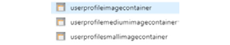 Viewing the output in Azure Storage Explorer. The three containers have been created