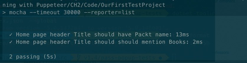 Test result after the first refactor