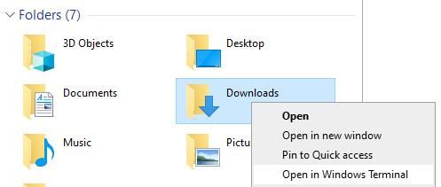 Figure 1.15 – The Open in Windows Terminal context menu item