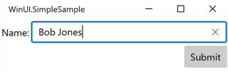 Figure 1.5 – Data binding the TextBox