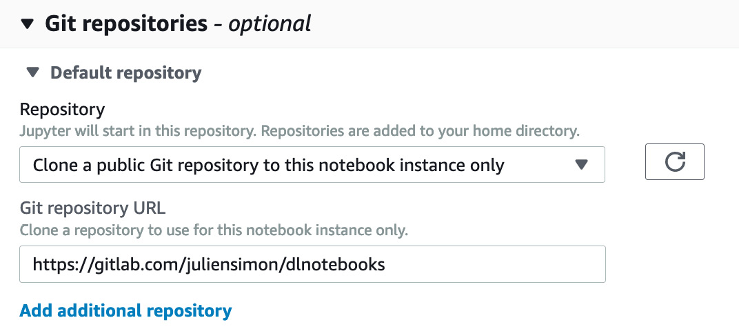 Figure 1.12 Setting Git repositories