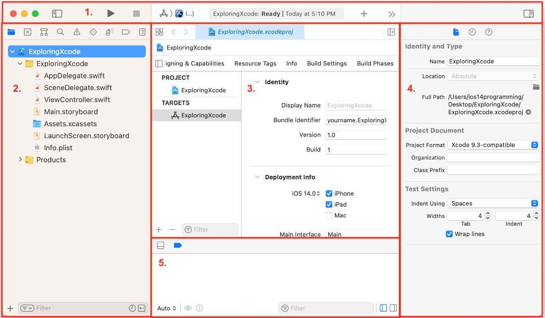 Figure 1.7 – Xcode user interface