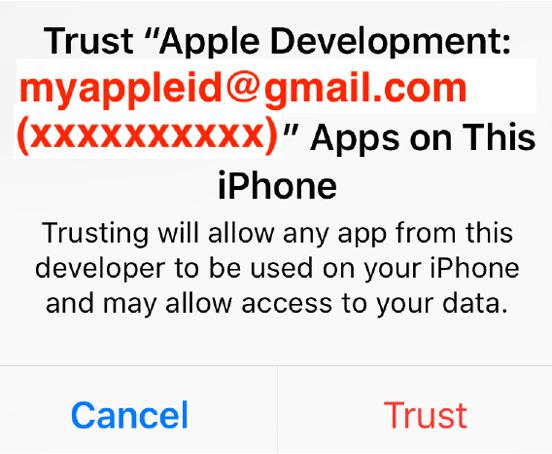Figure 1.23 – Trust dialog box