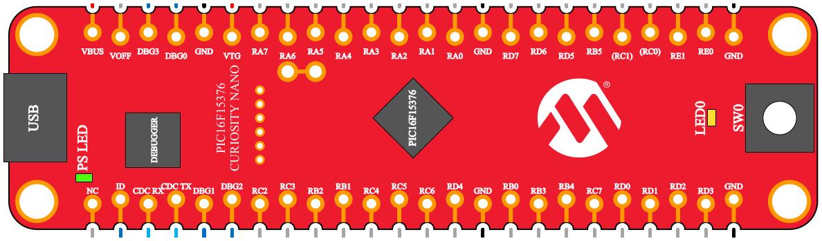 Figure 2.1 – Curiosity Nano's pins configuration