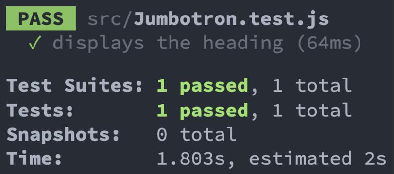 Figure 2.2 – Jumbotron component test results