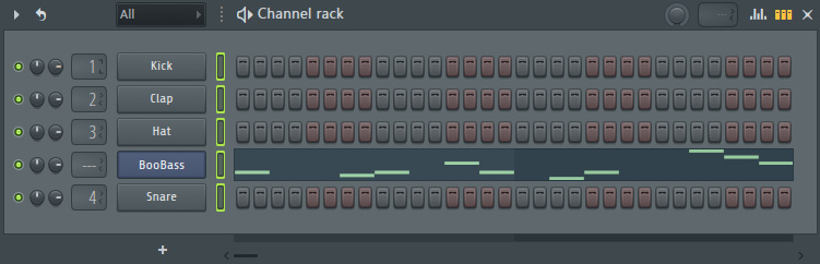 Figure 1.18 – Selecting channels in the Channel Rack