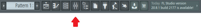 Figure 1.20 – Mixer icon in the Toolbar