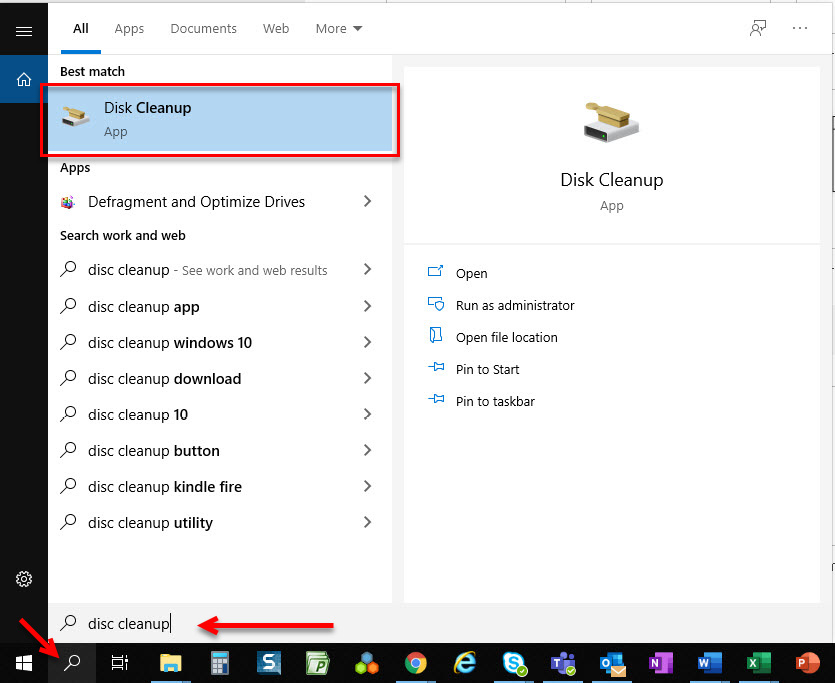 Figure 1.8 – Disk Cleanup