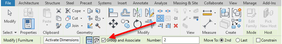 Figure 1.20 – Creating groups within the Array tool