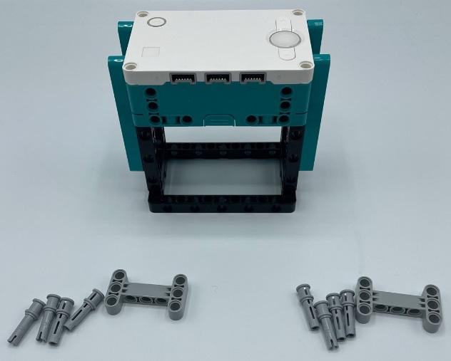 Figure 2.34 – Gray pins and H beams