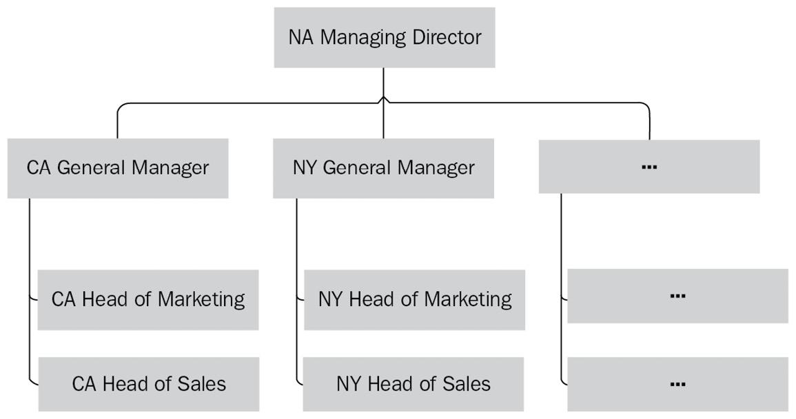 Figure 1.5 – Role hierarchy diagram example