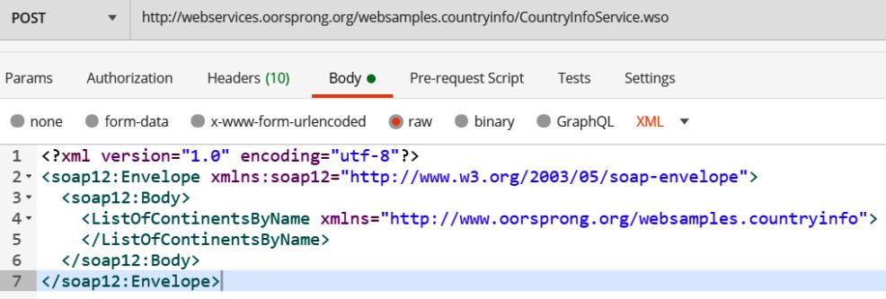 Figure 1.8 – SOAP API information