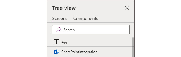 Figure 1.12 – SharePointIntegration control inside Power Apps
