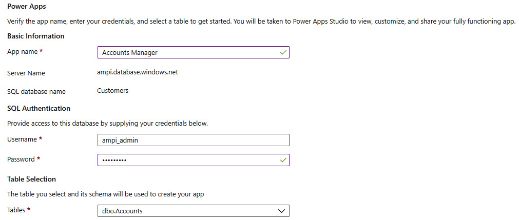 Figure 1.17 – Create an app form