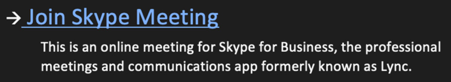 Figure 1.10 – Skype meeting invite