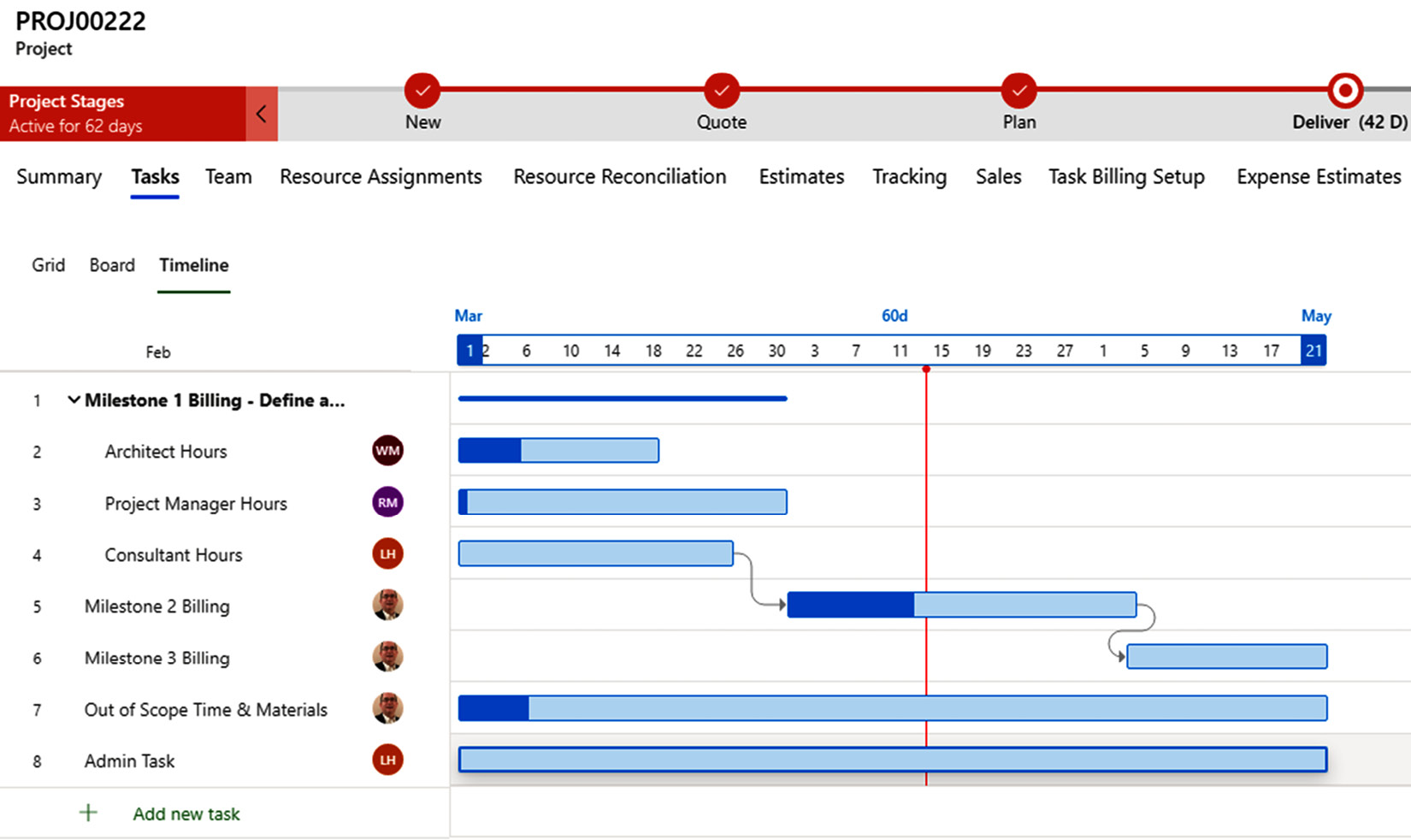 Figure 1.3 – Microsoft Dynamics 365 Project Operations