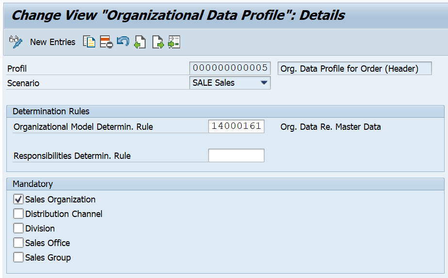 Figure 2.8 – Assigning an org determination rule to the org data profile