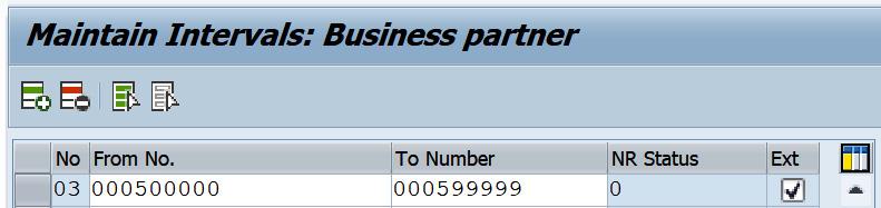 Figure 2.12 – Adding business partner intervals
