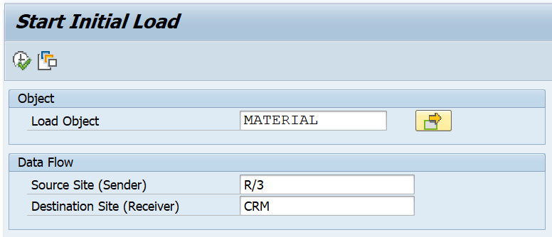 Figure 2.22 – Material initial load