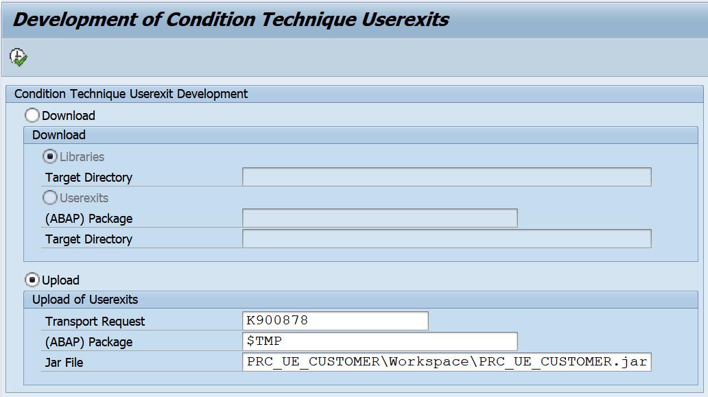Figure 2.29 – Uploading a user exit JAR file