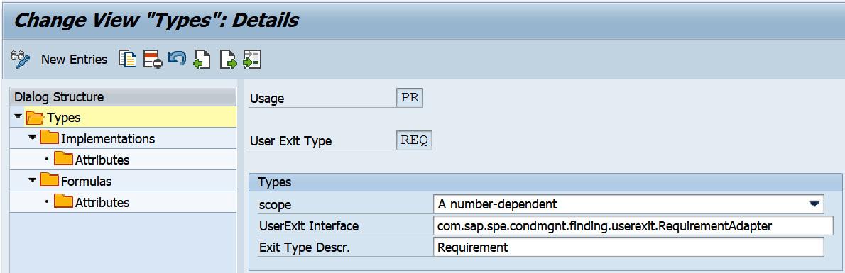 Figure 2.31 – User exit type details