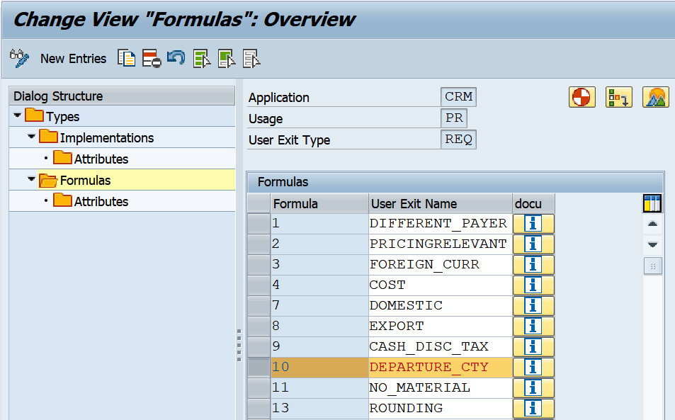 Figure 2.34 – Formulas assigned to the user exit