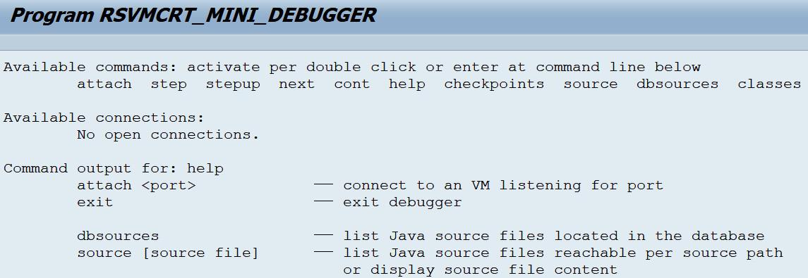 Figure 2.36 – Virtual machine container mini debugger