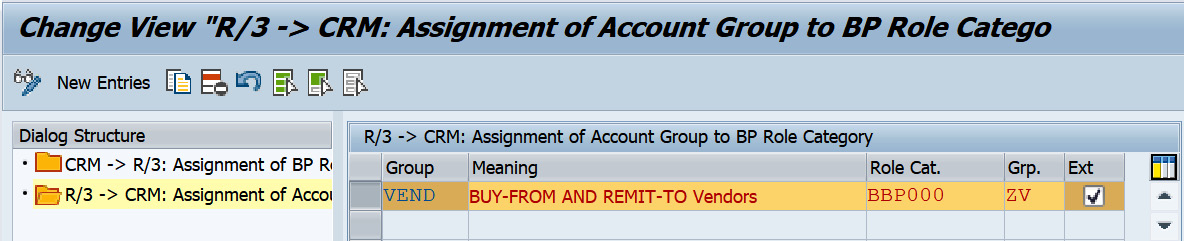 Figure 2.39 – Assignment of the account group to the business partner role category
