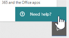 Figure 1.14 – The Need help? button appears in the lower right-hand corner  of the admin center