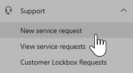 Figure 1.15 – The Microsoft 365 admin center's left-hand navigation menu's Support section