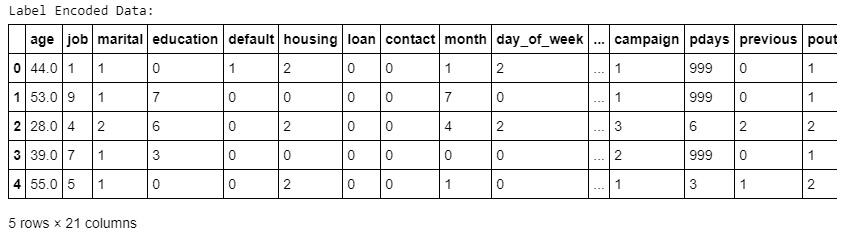 Figure 1.36: Values of non-numeric columns converted into numeric form