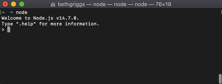 Figure 1.8 – Node.js REPL