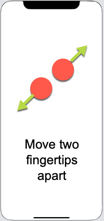Figure 1.22 – Using the pinch gesture to expand a view