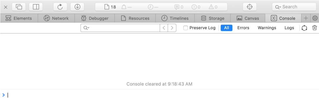 Figure 1.11: Apple Safari Developer Tools