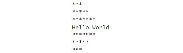 Figure 1.8: Output of the hello world program