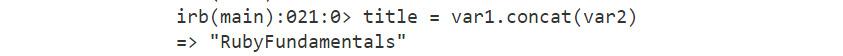 Figure 1.33: Output using the .concat method