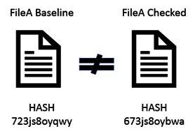 Figure 1.2 – A hash value that does not match the baseline