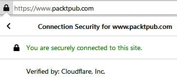 Figure 1.5 – Secure website for Packt Publishing